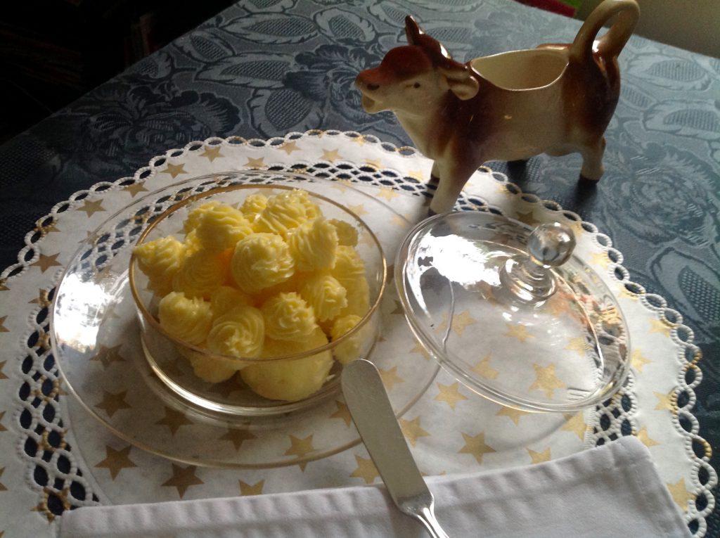 Antike Butterdose